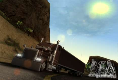 Trailer für Freightliner Classic XL Custom für GTA San Andreas linke Ansicht