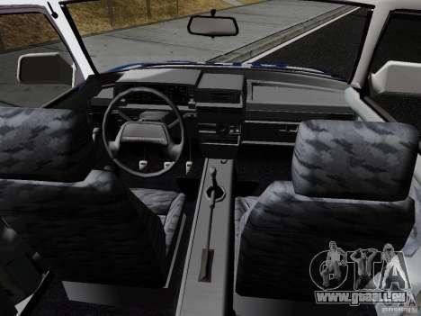 VAZ 21099, police pour GTA San Andreas vue arrière