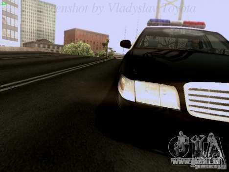 Ford Crown Victoria Los Angeles Police pour GTA San Andreas vue arrière