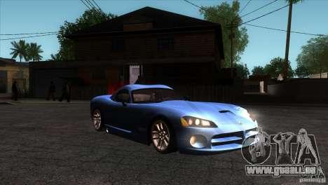 Dodge Viper SRT10 Stock pour GTA San Andreas vue arrière