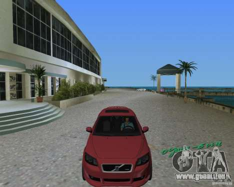 Volvo C30 pour une vue GTA Vice City de la droite