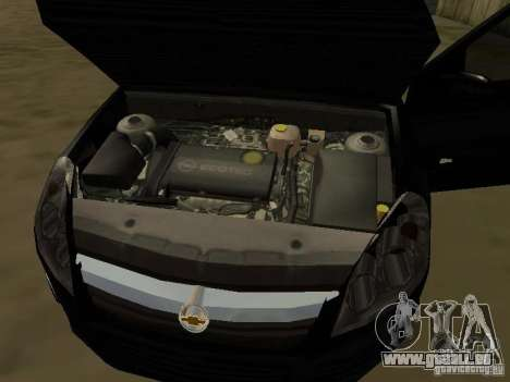 Chevrolet Vectra Elite 2.0 pour GTA San Andreas vue de dessus