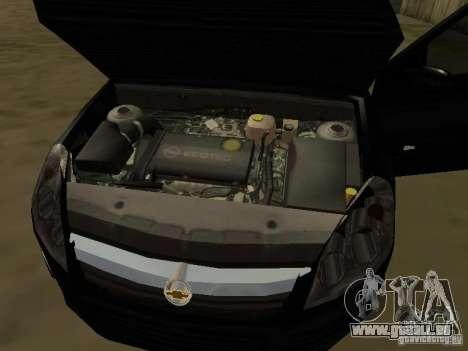 Chevrolet Vectra Elite 2.0 für GTA San Andreas obere Ansicht