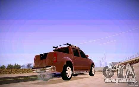 Nissan Fronter pour GTA San Andreas sur la vue arrière gauche