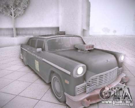Diablo Cabbie HD pour GTA San Andreas laissé vue