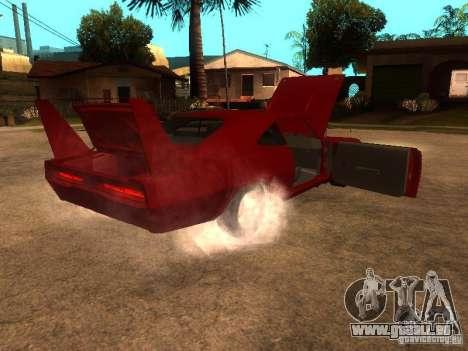 Dodge Charger Daytona Fast & Furious 6 für GTA San Andreas obere Ansicht