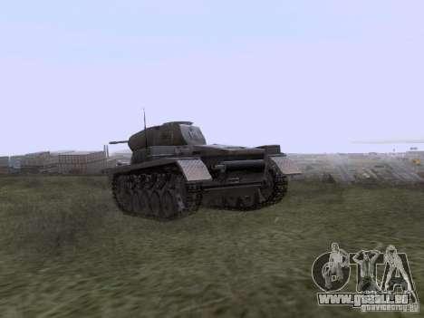 PzKpfw II Ausf.A pour GTA San Andreas sur la vue arrière gauche