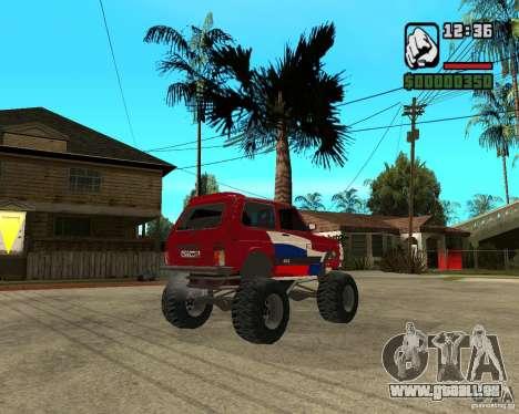 VAZ-21213 4x4 Monster pour GTA San Andreas vue arrière