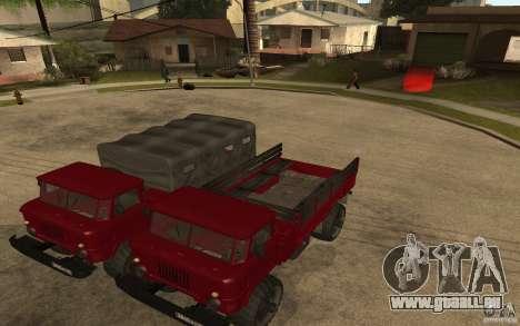 GAZ 66 für GTA San Andreas Rückansicht