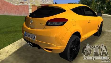Renault Megane 3 Sport pour GTA Vice City sur la vue arrière gauche