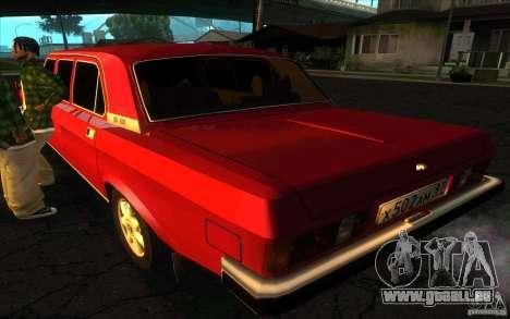 GAZ Limousine de Volga 3102 pour GTA San Andreas laissé vue