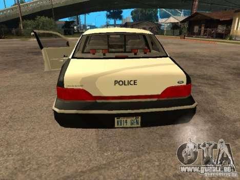 Ford Crown Victoria 1994 Police pour GTA San Andreas vue arrière