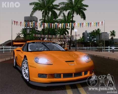 Chevrolet Corvette C6 Z06R GT3 v1.0.1 pour GTA San Andreas sur la vue arrière gauche