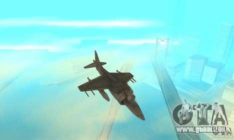 AV-8 Harrier pour GTA San Andreas vue intérieure
