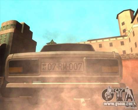 VAZ 2107 Azeri Style pour GTA San Andreas sur la vue arrière gauche