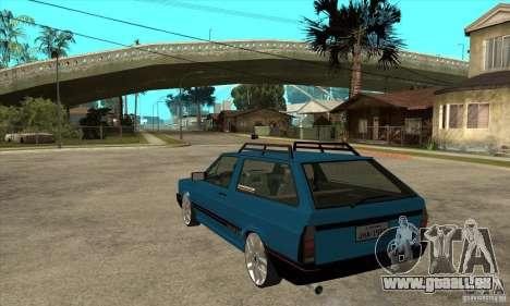 VW Parati GLS 1989 JHAcker edition pour GTA San Andreas sur la vue arrière gauche
