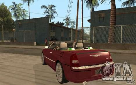 Chrysler 300c Roadster Part2 pour GTA San Andreas sur la vue arrière gauche
