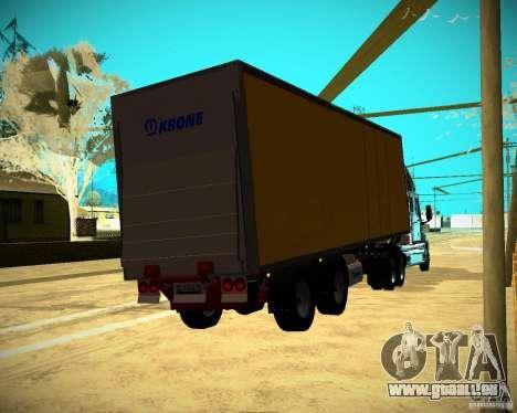 Der Trailer-Krone-Biedra für GTA San Andreas linke Ansicht