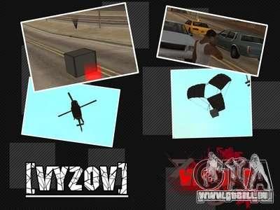 Appeler des hélicoptères avec munitions pour GTA San Andreas