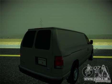 Ford E150 2000 pour GTA San Andreas sur la vue arrière gauche