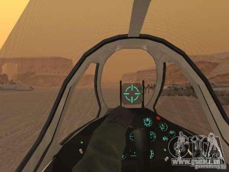 MiG-15 mit Waffen für GTA San Andreas Unteransicht