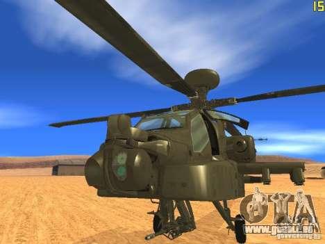 AH-64D Longbow Apache pour GTA San Andreas