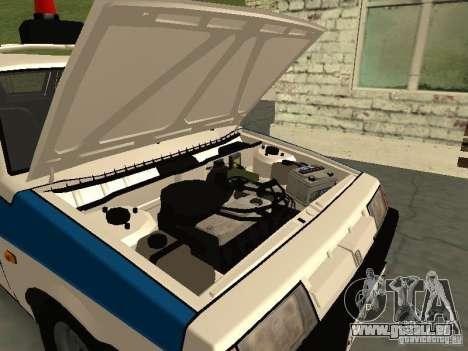 VAZ 2109 Polizei für GTA San Andreas Rückansicht
