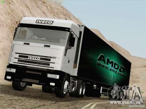 Iveco Eurostar für GTA San Andreas Rückansicht