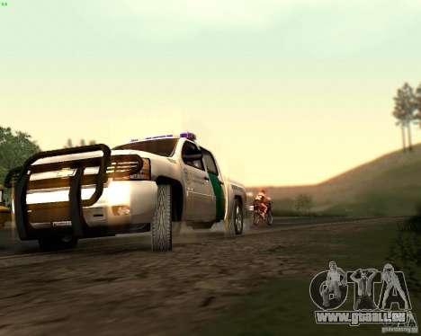 Chevrolet Silverado Police pour GTA San Andreas vue de dessus
