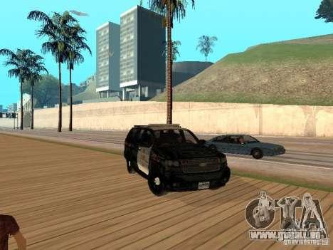 Chevrolet Tahoe Ontario Highway Police für GTA San Andreas linke Ansicht