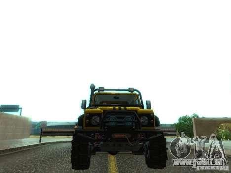 Land Rover Defender Off-Road pour GTA San Andreas vue de côté