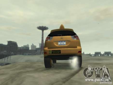 Lexus RX400 New York Taxi für GTA 4 obere Ansicht