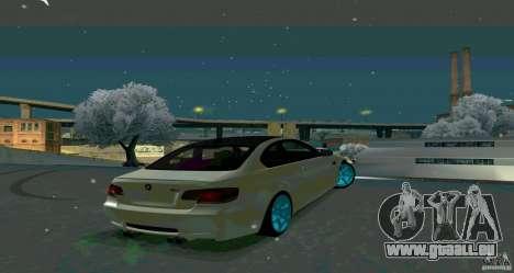 BMW E92 pour GTA San Andreas laissé vue