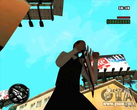 Chrome black red gun pack pour GTA San Andreas sixième écran