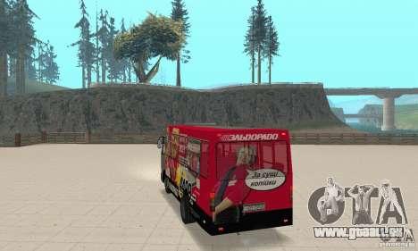 Bogdan A091 pour GTA San Andreas laissé vue