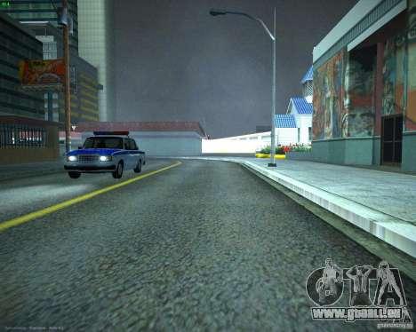 VAZ 2107 Polizei für GTA San Andreas rechten Ansicht