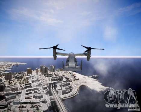 Osprey MV-22 für GTA 4 Rückansicht