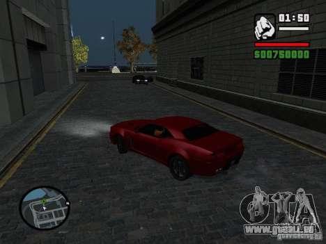 NFS Undercover Coupe für GTA San Andreas zurück linke Ansicht