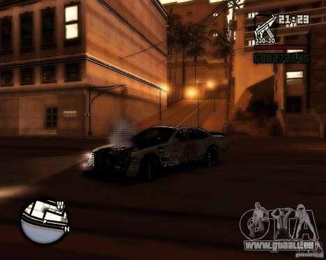 Dodge Nascar Beers Light 40 pour GTA San Andreas sur la vue arrière gauche
