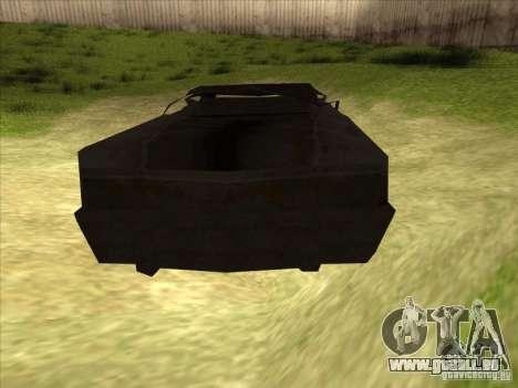 Real Ghostcar für GTA San Andreas zurück linke Ansicht