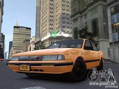 Oldsmobile Cutlass Ciera 1993 pour GTA 4 vue de dessus