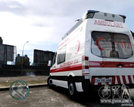 Mercedes Sprinter Turkish Ambulance für GTA 4 rechte Ansicht