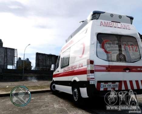 Mercedes Sprinter Turkish Ambulance für GTA 4 rechte Ansicht
