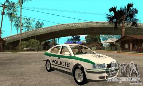 Skoda Octavia Police CZ pour GTA San Andreas vue arrière