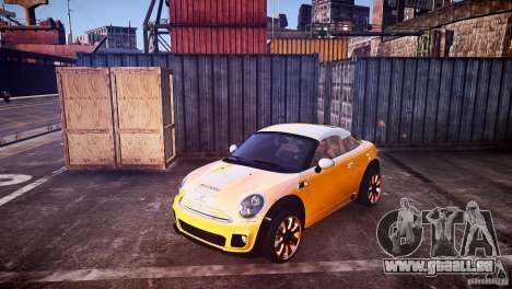 Mini Coupe Concept v0.5 pour GTA 4 Vue arrière