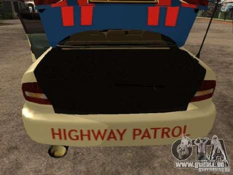 Mitsubishi Galant Police Indanesia pour GTA San Andreas vue arrière