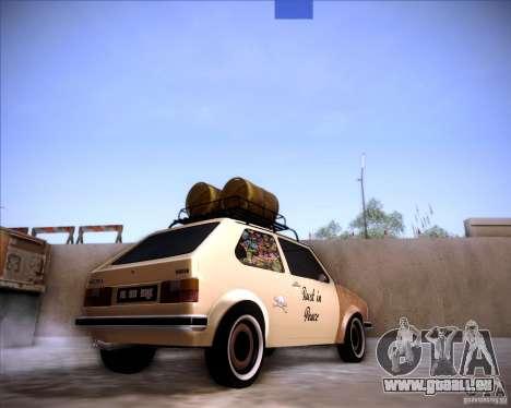 Volkswagen Golf MK1 rat style pour GTA San Andreas laissé vue