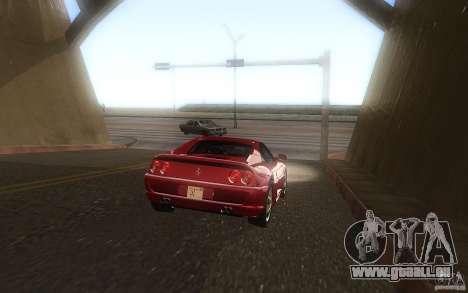 Ferrari F355 1994 pour GTA San Andreas sur la vue arrière gauche