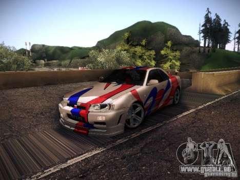 Nissan Skyline full tune pour GTA San Andreas laissé vue