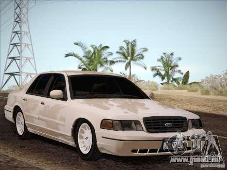 Ford Crown Victoria Interceptor für GTA San Andreas Rückansicht
